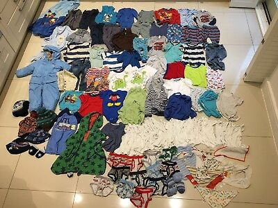 Large bundle of baby boys clothes 12-24 months 1-2 years, almost 100 items
