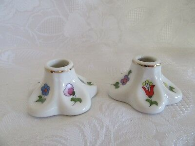 Kalocsa Hungary  Hand Painted Candle Holders Small