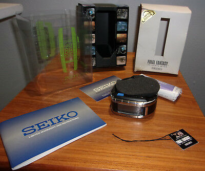 Rare Seiko Final Fantasy Watch Complete with box and instructions Free Shipping