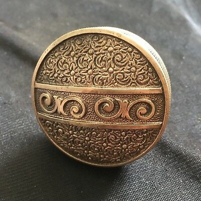 Antique Victorian Eastlake Brass Door Knob Bouquet Design By Nimick & Brittan