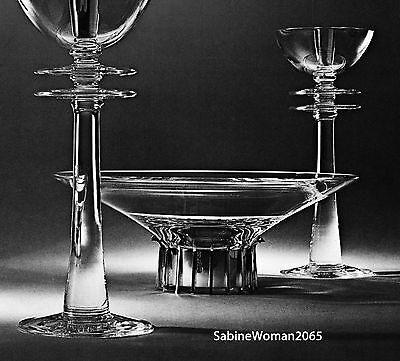 HUGE STEUBEN glass VERY TALL CANDLESTICK PAIR ornaments crystal STERLING SILVER