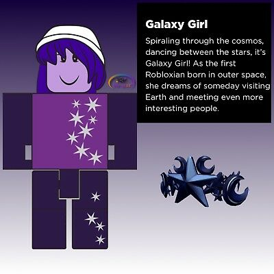 """Roblox GALAXY GIRL Series 2 Rare 3"""" Toys Figures & Queen of the Night Crown Code"""