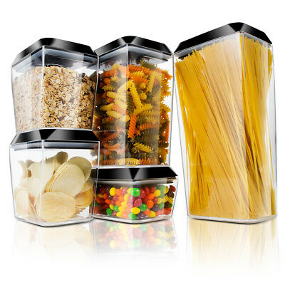 dc2ae7580d05 BINO 10-PIECE AIRTIGHT Stackable Kitchen Storage Container Pantry ...