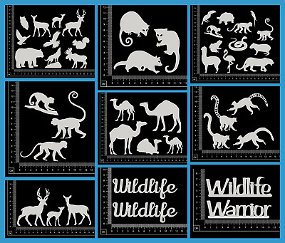 White Chipboard - Animals - Collection One