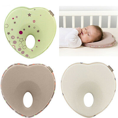 Newborn Infant Baby Memory Foam Pillow Prevent Flat Head Anti Roll Support Neck