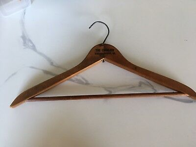 Vintage US Wooden Advertising Coat Hanger The Cavalier Virginia Beach VA
