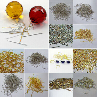 Glass Clasps For Crystals Fit Parts Chandelier Light Rings Drops Links Beads