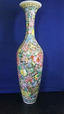 Chinese Qing Dynasty  Porcelain  Vase Qianlong. Famille Rose Extremely Rare