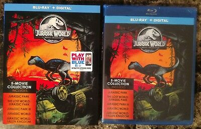 NEW Jurassic World 5-Movie Collection Blu-ray Box Set w Slipcover Park Lost III