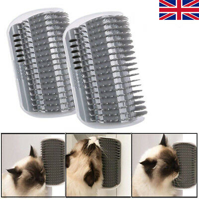Cat Pet Self Groomer Brush Wall Corner Grooming Hair Comb Massage Tool Toy AC