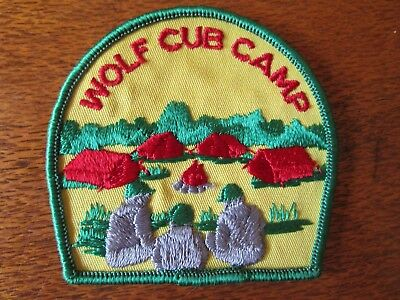 Sea Scout Patch Of A Wolf Cub Camp From The 1980's By Guildform Emblems