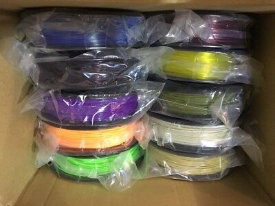 10 x Genuine MakerBot PLA 1.75mm 3Dfilament, Small spool - TRANS COLOURS AVAILAB
