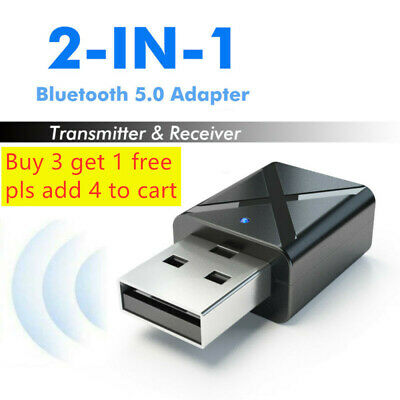 USB Bluetooth 5.0Receiver Audio Transmitter Adapter For TV/PC Headphone Speaker!