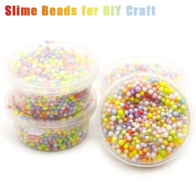 Rainbow Colorful Styrofoam Decorative Slime Beads DIY Craft For Crunchy Slimes