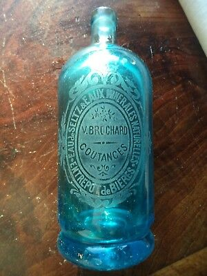 Ancien Siphon Bouteille Gravee Coutances Bistrot French Collection