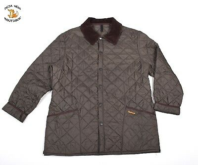 BARBOUR Men Lightweight Quilted LIDDESDALE Jacket Casual Corduroy Collared sz XL