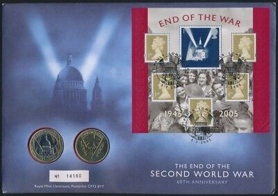 Great Britain 2005 PNC inc £2 Coin WWII 60th Anniversary