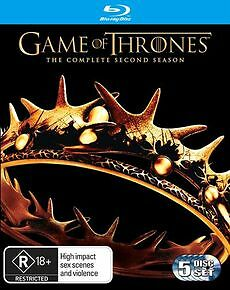 Game Of Thrones : Season 2 (Blu-ray, 2013, 5-Disc Set) Brand New and Sealed
