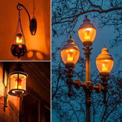 4 Models E27 LED Flicker Flame Light Bulb Simulated Burn Fire Effect Party Decor