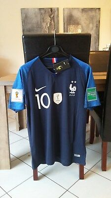 MaillotEquipe de France 20182 ETOILES 10 MBAPPENeuf Taille XL