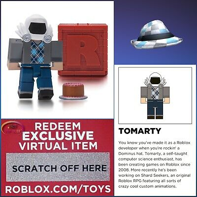 """Roblox TOMARTY Series 4 Mystery Red Box 2.5"""" Figures Toys Packs+Topper Hat Codes"""
