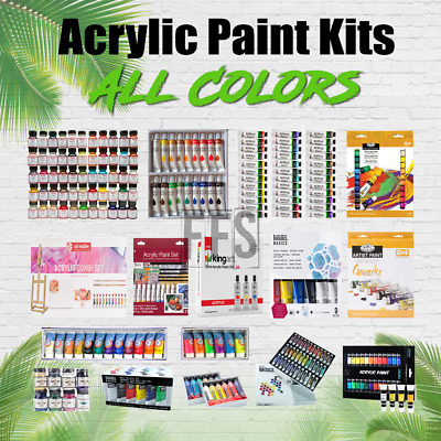 Acrylic Paint Kit Sets Art Supplies Painting Lot Student/Professional ALL COLORS