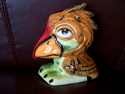 Lorna Bailey Grotesque Bird Wally The Wader Unusual With Red Bill & Green Feet