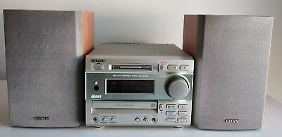 Sony Dhc-Md373 Minidisk Mini Hi-Fi Components System Md Cd Player Tuner Speakers