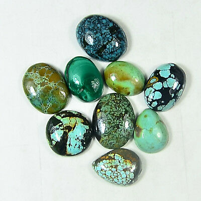 48 Cts Lot 100%Natural tibet Turquoise Cabochon Gemstone
