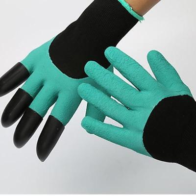 Heavy Duty Garden Gloves Digging Planting with 4 Plastic Claws Gardening Gloves