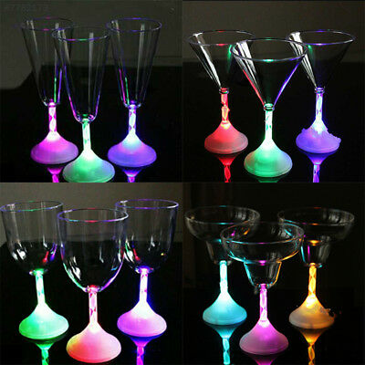 BE22 Led Flashing Red Wine Cup Color Changing Light Bar KTV Water Cups Glass