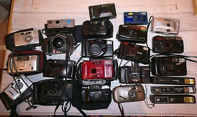 JOB LOT 23x OF Old Film 35mm CAMERAS FOR REPAIR OR SPARES