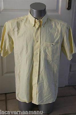pretty shirt yellow sleeves short LACOSTE size L (40) SATISFIED/REFUNDED
