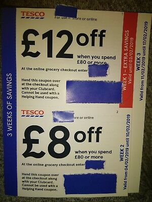 Tesco Club Card Vouchers £28 Worth Of Savings Discount Coupons