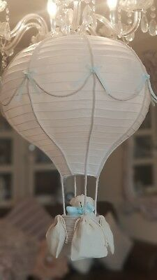 ❤ Stunning Large Hot Air Balloon Lightshade comes with maching Teddy Bear ❤