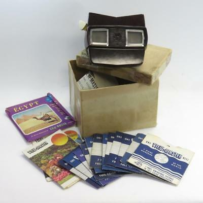 Sawyer's View-Master Model E Stereoscope 3D Slide Viewer & Slide Reel Collection