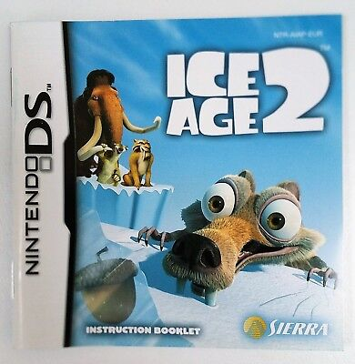 INSTRUCTION BOOKLET/MANUAL for ICE AGE 2 NINTENDO DS GAME brand new UK