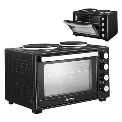 Mini Oven With Hob Hotplate Electric 1600W 30L Cooker Baking Cooking Roast Home