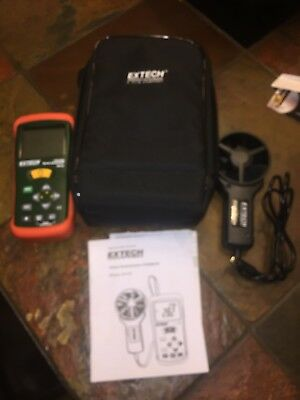 Extech AN100 CFM/CMM Mini Thermo-Anemometer with carrying Case