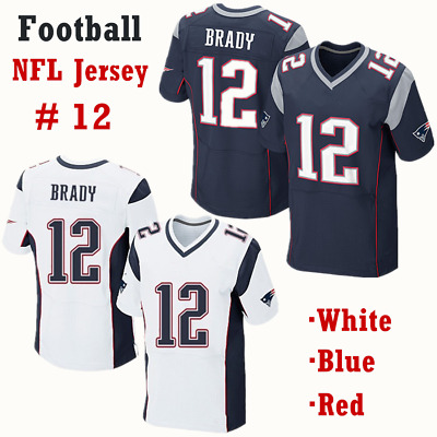 57b26137b6e Tom Brady #12 New England Patriots Mens Navy Blue/White Football NFL Game  Jersey