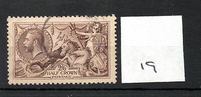 GB - GEORGE V (19) - Seahorses 1913/1918 -  2/6d - fine used - high cat. value