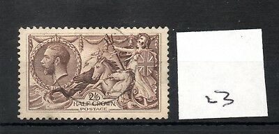 GB - GEORGE V (23) - Seahorses 1913/1918 -  2/6d - fine used - high cat. value