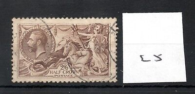 GB - GEORGE V (25) - Seahorses 1913/1918 -  2/6d - fine used - high cat. value