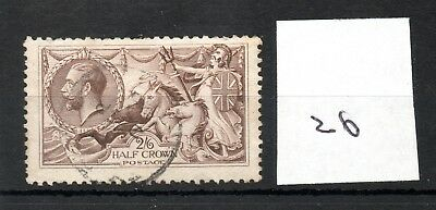 GB - GEORGE V (26) - Seahorses 1913/1918 -  2/6d - fine used - high cat. value
