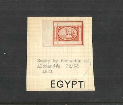 Egypt-Egypte:1871 , Pyramids, Essay By Penasson, Marginal Imperforated,  Mng .