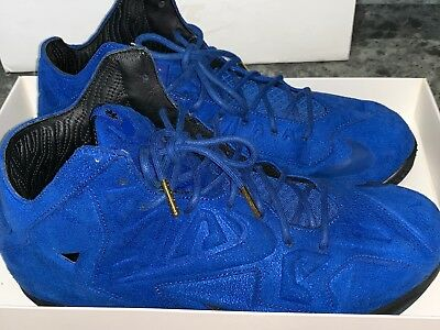 online store 95aeb ba8e5 Nike LeBron 11 XI EXT Blue Suede Size 10 Barely Worn 100% Authentic Free  Ship