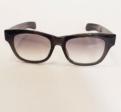 Vintage Peepers Japan Thick Rimmed Transparent Smokey Grey Frame Sunglasses