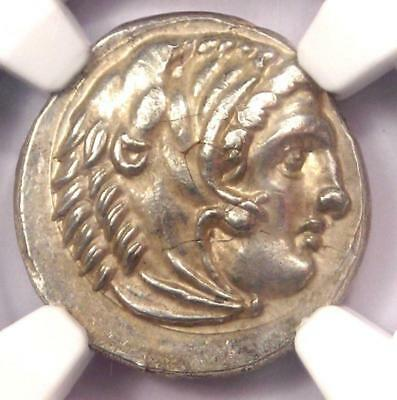 Alexander the Great III AR Drachm Coin 336 BC - NGC Choice AU - Rare Coin!