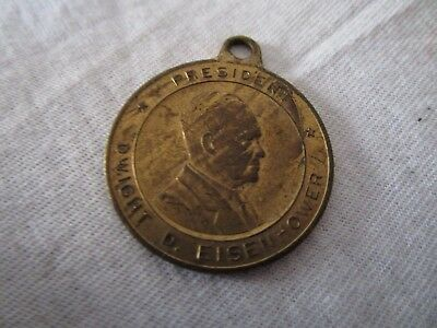1950's Political Dwight D Eisenhower Coin Charm or Pendant