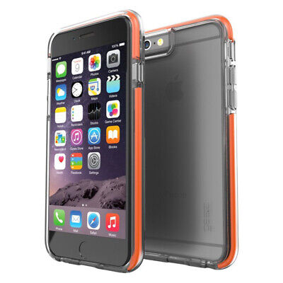 Gear4 Icebox D30 Shockproof Case Cover for Apple iPhone 6 / 6S - Clear / Orange